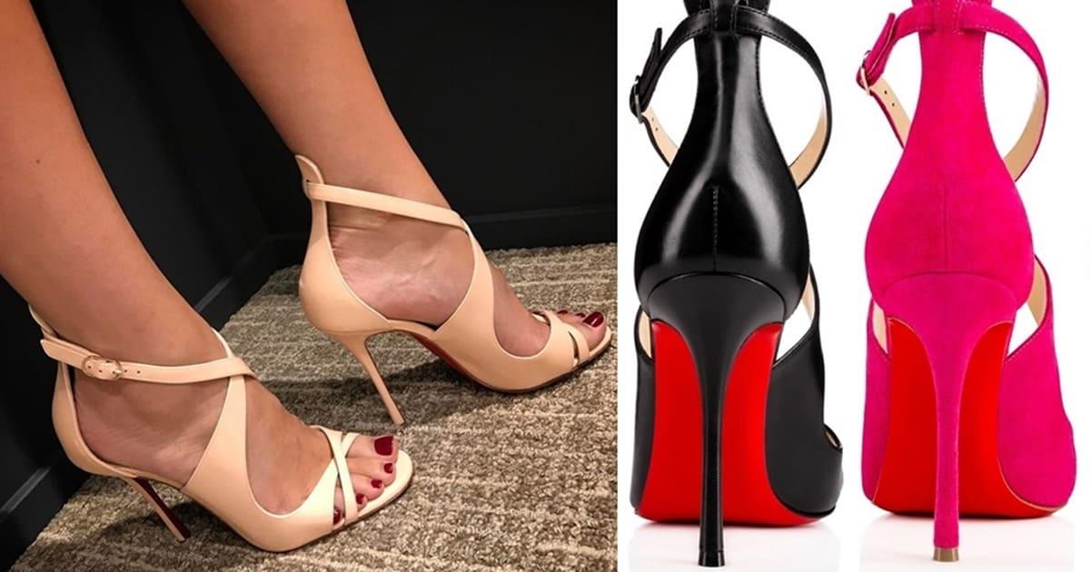 best website e36cd b2a49 Vertiginous Malefissima Crisscross Sandals by Christian ...
