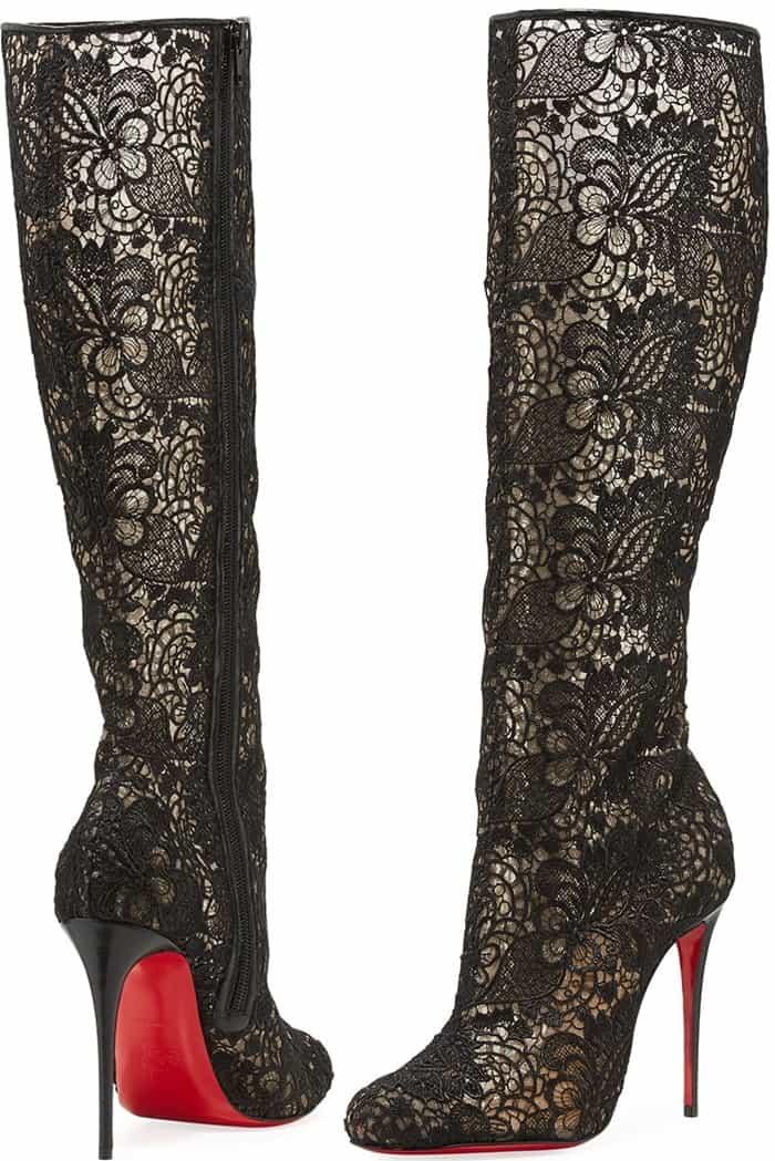 """Christian Louboutin """"Tennissima"""" net lace boots"""