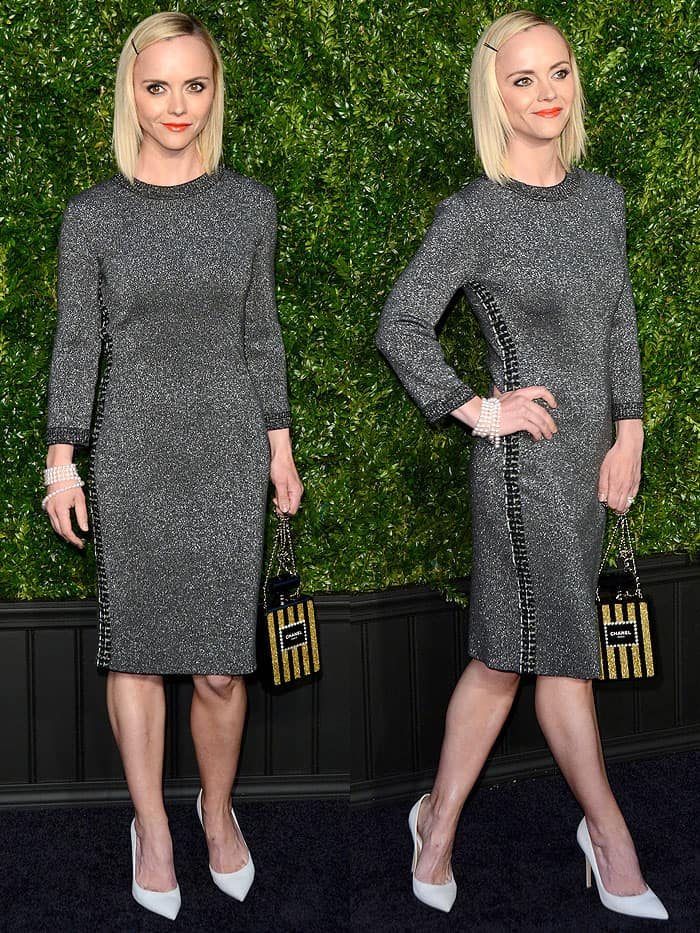 Christina Ricci at the Chanel Artists Dinner held during the 2017 Tribeca Film Festival at Balthazar restaurant in New York City on April 24, 2017.