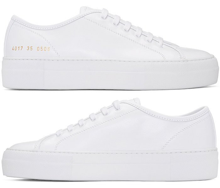 Common Projects 'Tournament' Leather Sneakers