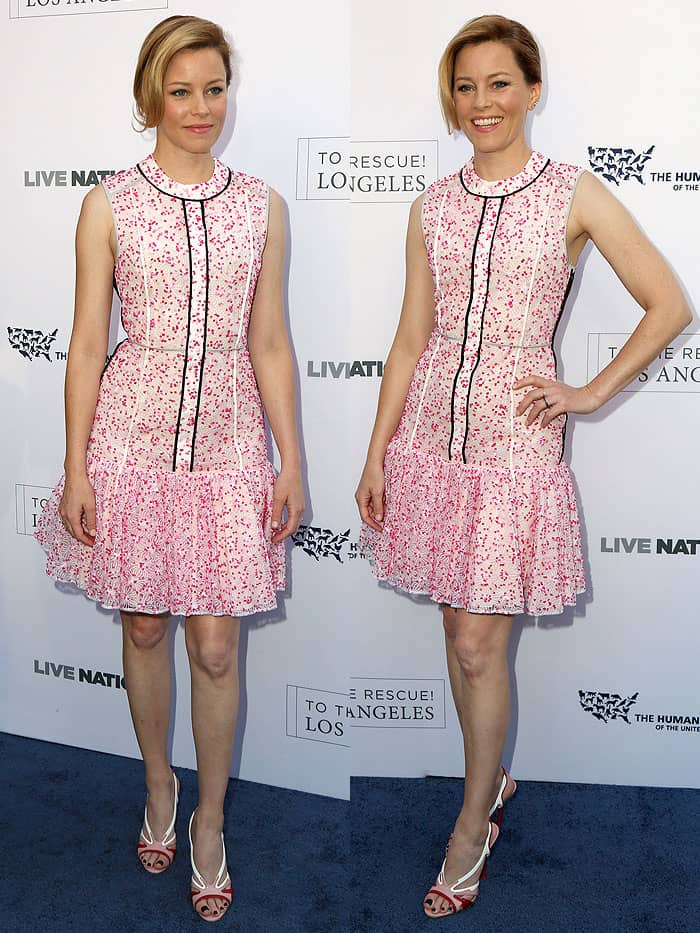 Elizabeth Banks attending the Humane Society of The United States' Annual To The Rescue! Los Angeles Benefit in Hollywood, California, on April 22, 2017.