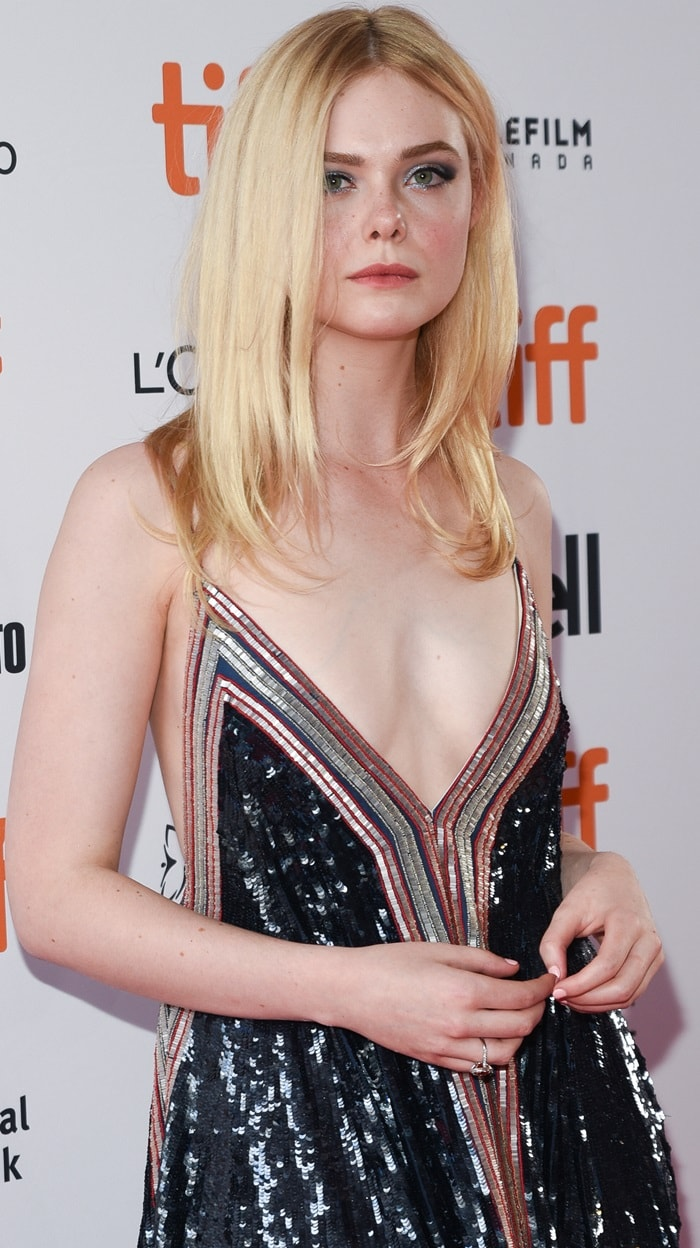 Elle Fanning looking fresh for the 'Teen Spirit' premiere during the 2018 Toronto International Film Festival in Canada on September 7, 2018