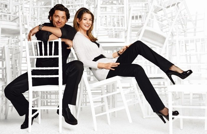 Ellen Pompeo and Patrick Dempsey from ABC's hit show Grey's Anatomy