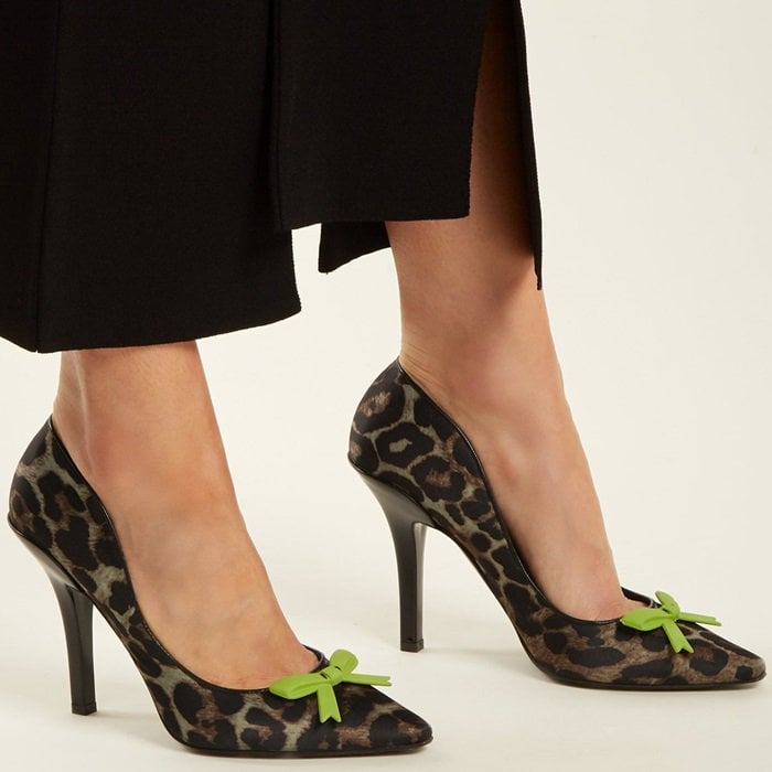 Fabrizio Viti 'Summer Fever' Leopard-Print Satin Pumps