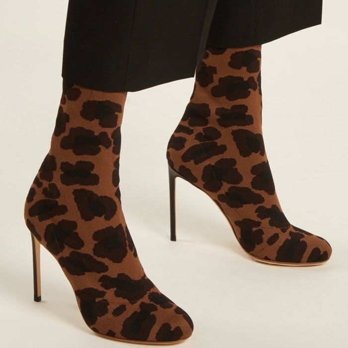 It's the sepia-brown and black leopard jacquard of these Francesco Russo boots that make them a head-turning choice