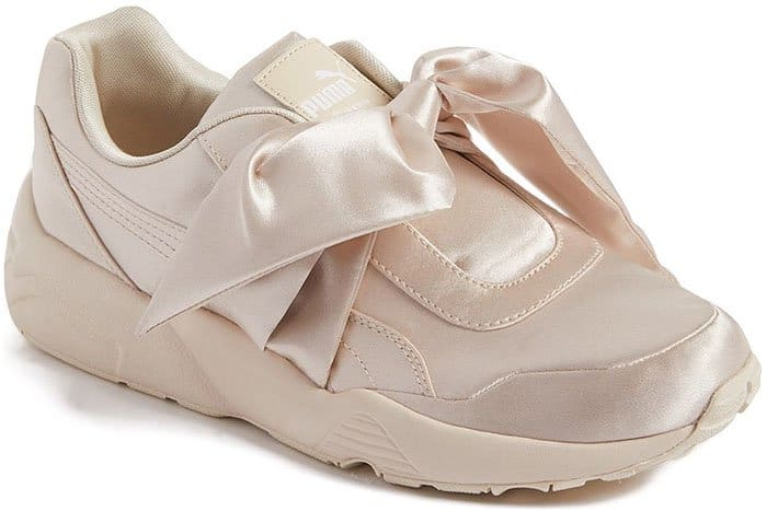 Fenty Puma by Rihanna bow sneakers in Pink Tint