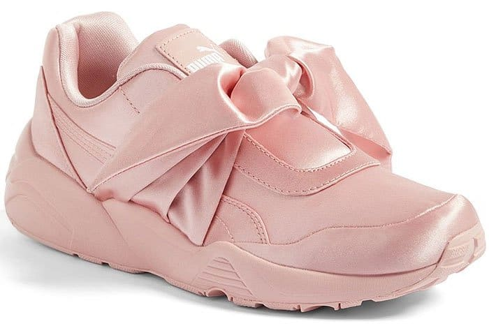 Fenty Puma by Rihanna bow sneakers in Silver Pink