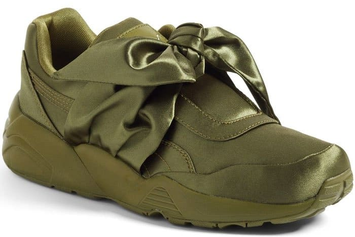Fenty Puma by Rihanna bow sneakers in Olive Branch