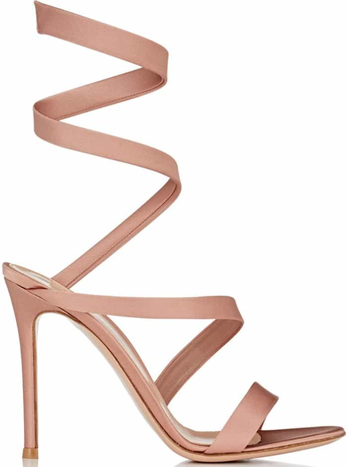 Gianvito Rossi Pink Opera Satin Sandals
