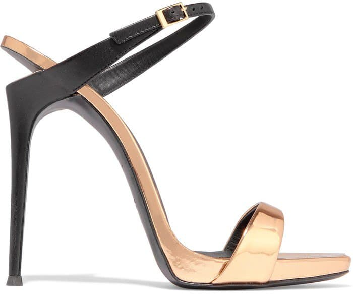 Giuseppe Zanotti 'Tania' Cutout Metallic Leather Mules