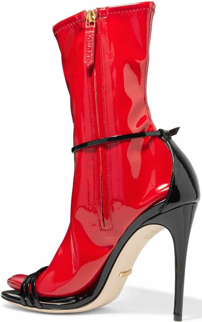 Gucci 'Ilse' Patent 110mm Sandals