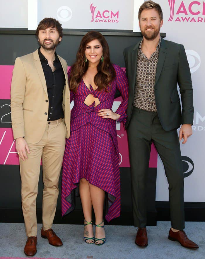 The band members of 'Lady Antebellum' – Hillary Scott, Charles Kelley, and Dave Haywood