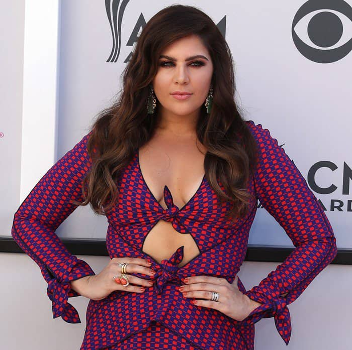 Hillary Scott in Proenza Schouler at the 2017 Academy Of Country Music Awards n Las Vegas on April 2, 2017<