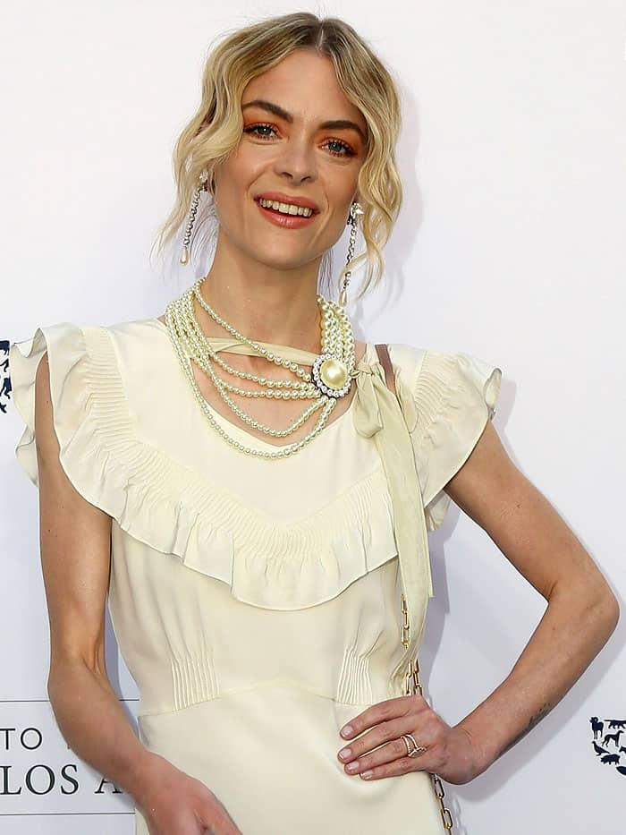 Jaime King attending the Humane Society of The United States' Annual To The Rescue! Los Angeles Benefit in Hollywood, California, on April 22, 2017.