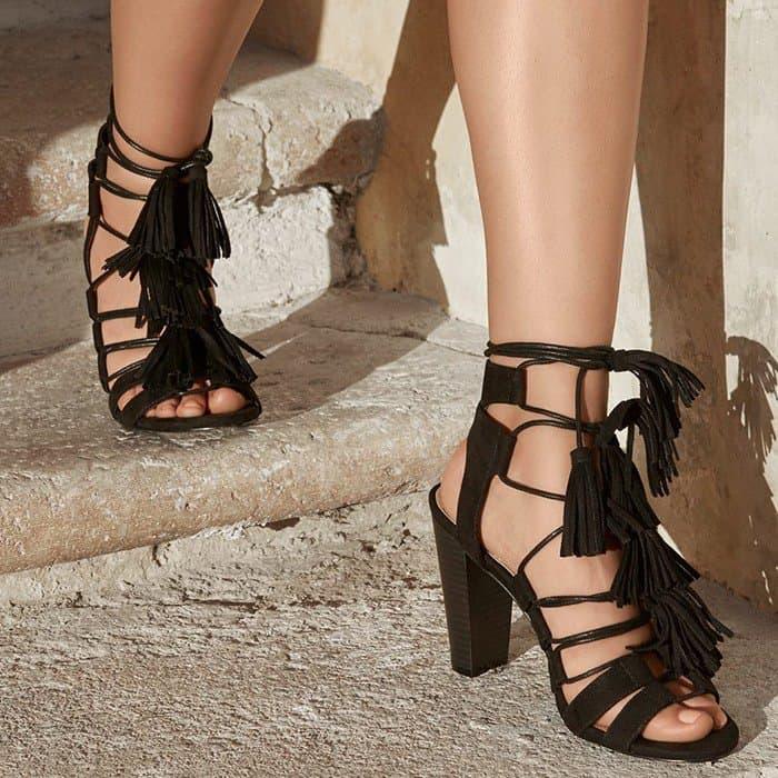 Fringe 'Janelle' Sandals