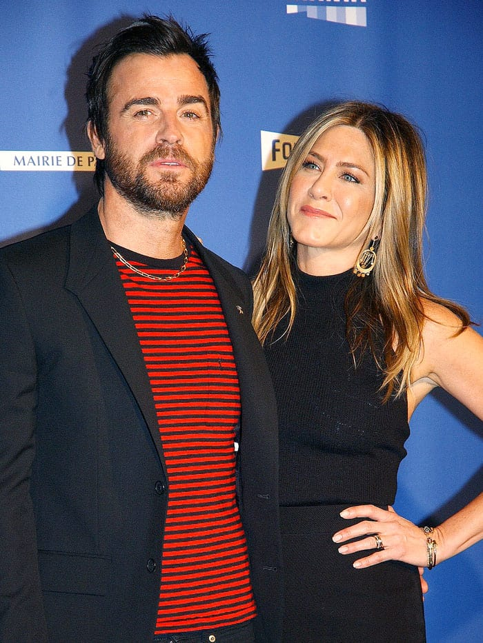 Jennifer Aniston and Justin Therouxhit the red carpet this evening for the opening night of Series Mania Festival