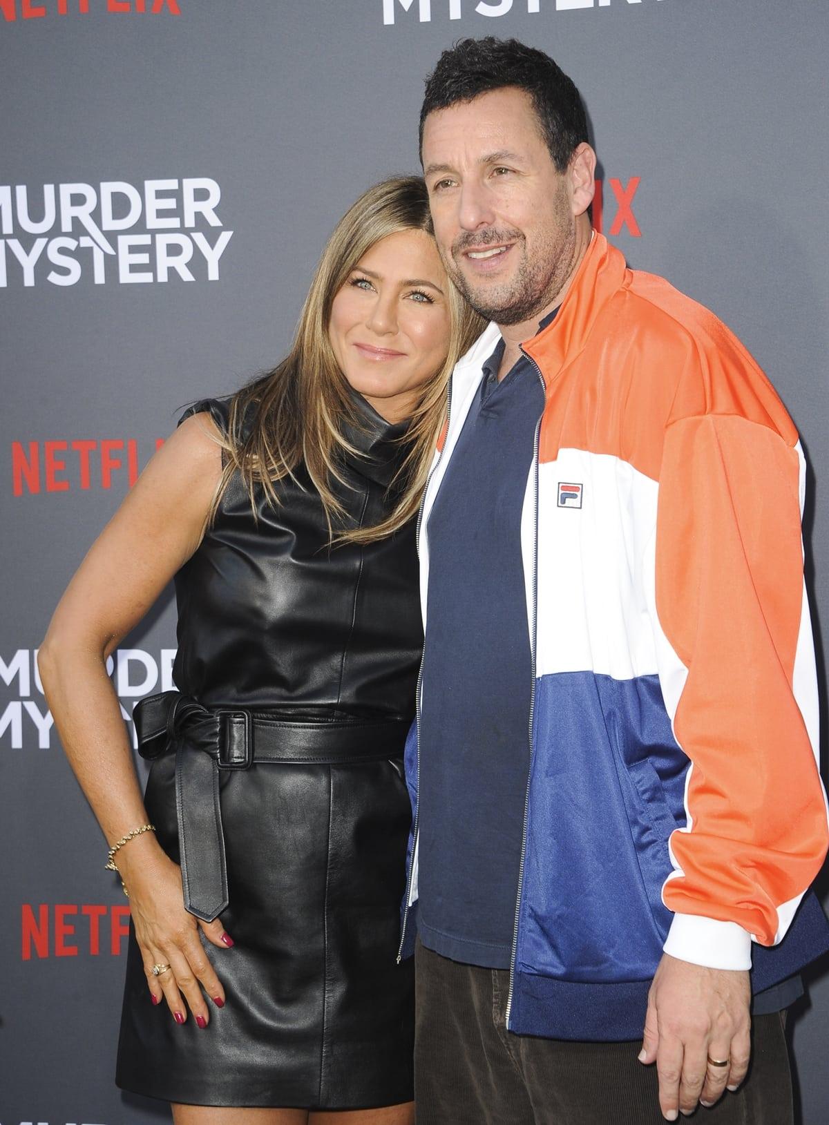 "Jennifer Aniston and Adam Sandler attend the Netflix World Premiere Of ""Murder Mystery"""