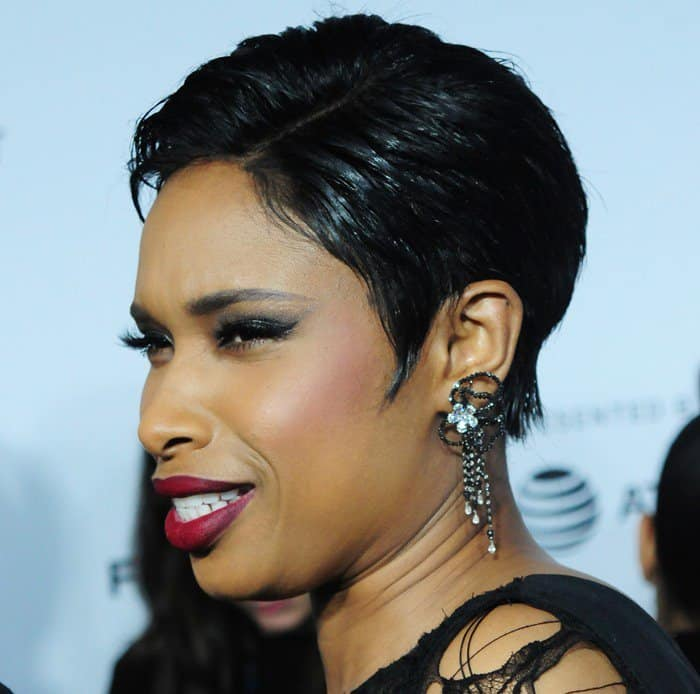 Jennifer Hudson accessorized with Jacob and Co. jewelry