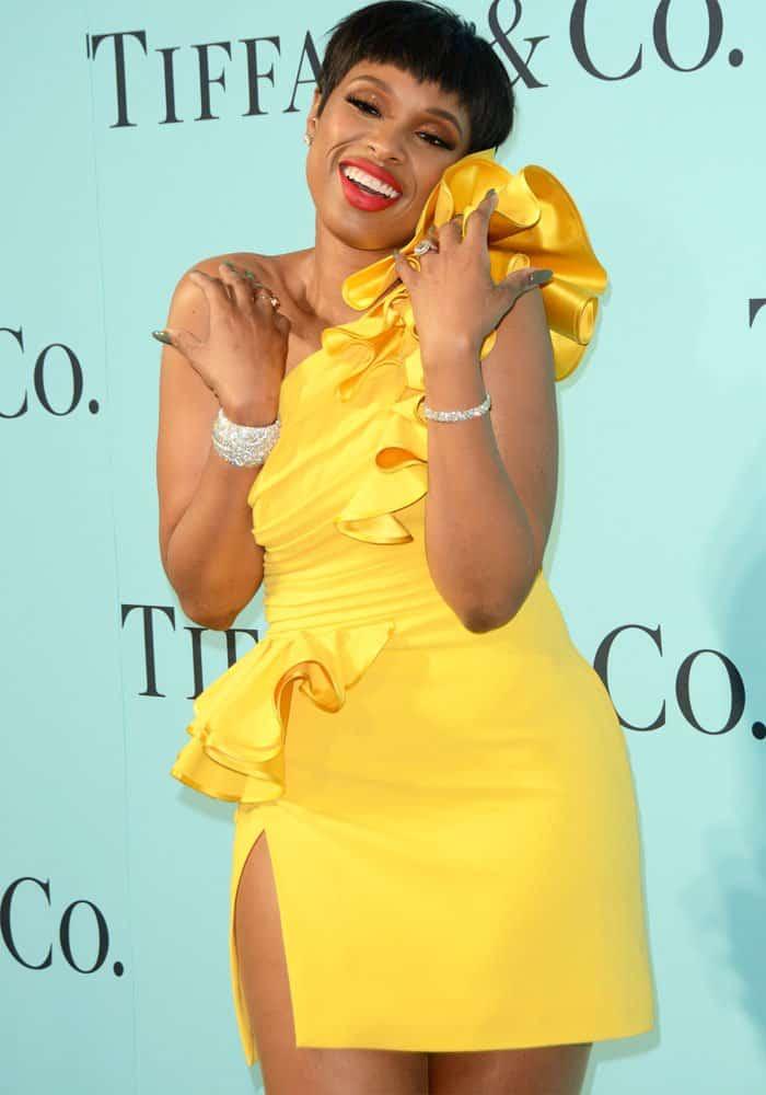 The singer showed off her Tiffany & Co. crystal-adorned wrists