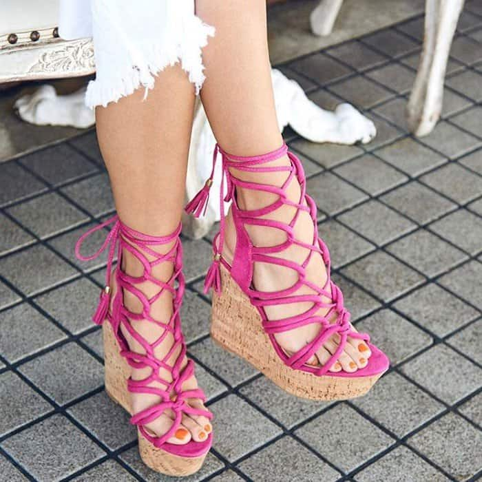 Over-the-Top 'Karlotta' Wedges