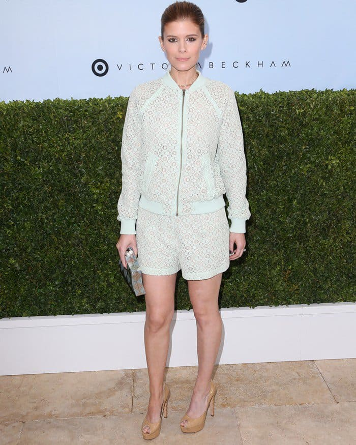 Kate Mara attends the launch of Victoria Beckham for Target collection held at a private residence in New York City on April 1, 2017