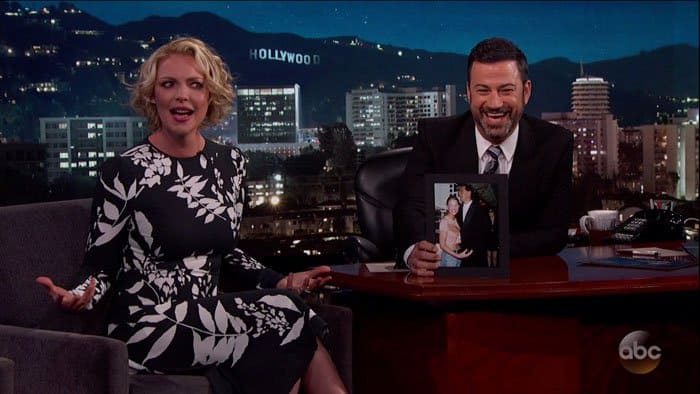 Katherine Heigl appearing on Jimmy Kimmel Live!