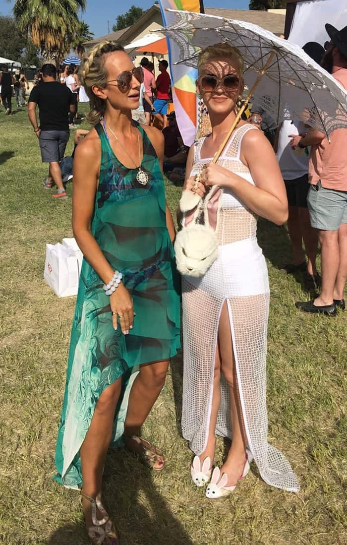Katy Perry, posing Lady Victoria Frederica Isabella Hervey, at Coachella Music Festival