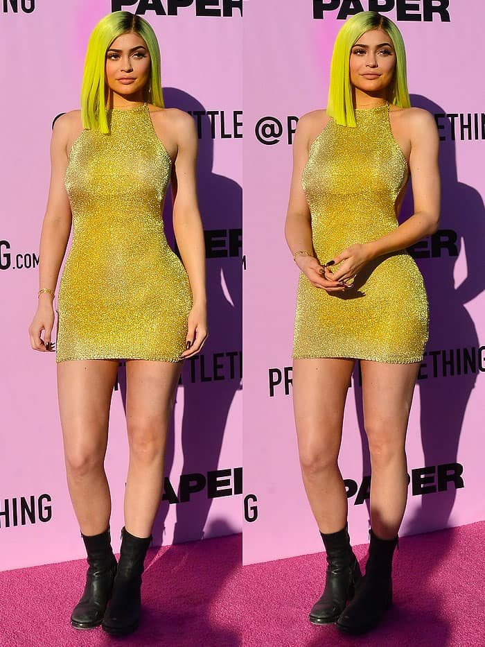 Kylie Jenner attending the x PAPER Magazine x PrettyLittleThing Pretty Little Playground party in Palm Springs, California, on April 14, 2017.