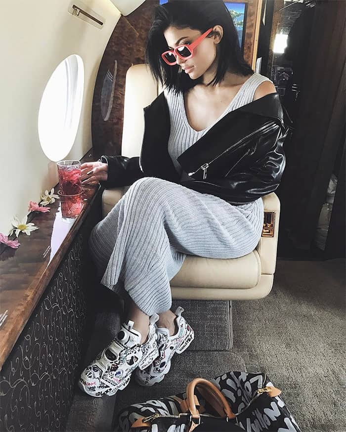 Kylie Jenner's Instagram post of her flying in a private jet to arrive early at the 2017 Coachella Music and Arts Festival -- posted on April 13, 2017.