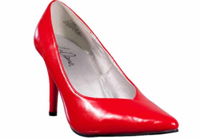 Le Dame Footwear Natalie Red Pumps