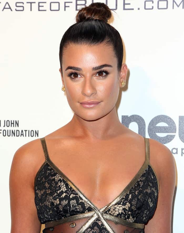 Lea Michele at the 25th Annual Elton John AIDS Foundation's Academy Awards Viewing Party held at West Hollywood Park in Los Angeles, California, on February 26, 2017