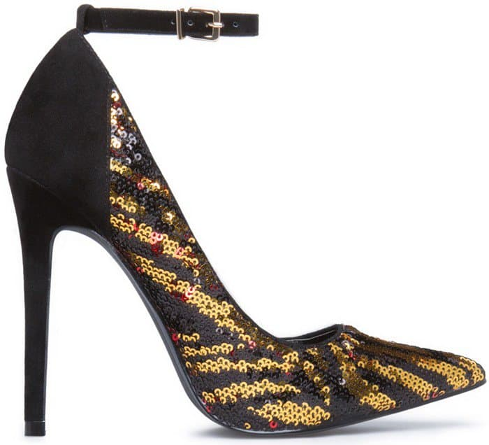 Sequined 'Gema' Leopard Pumps