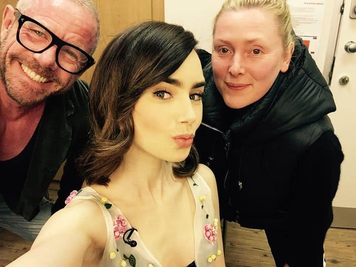 Lily poses with her London glam squad