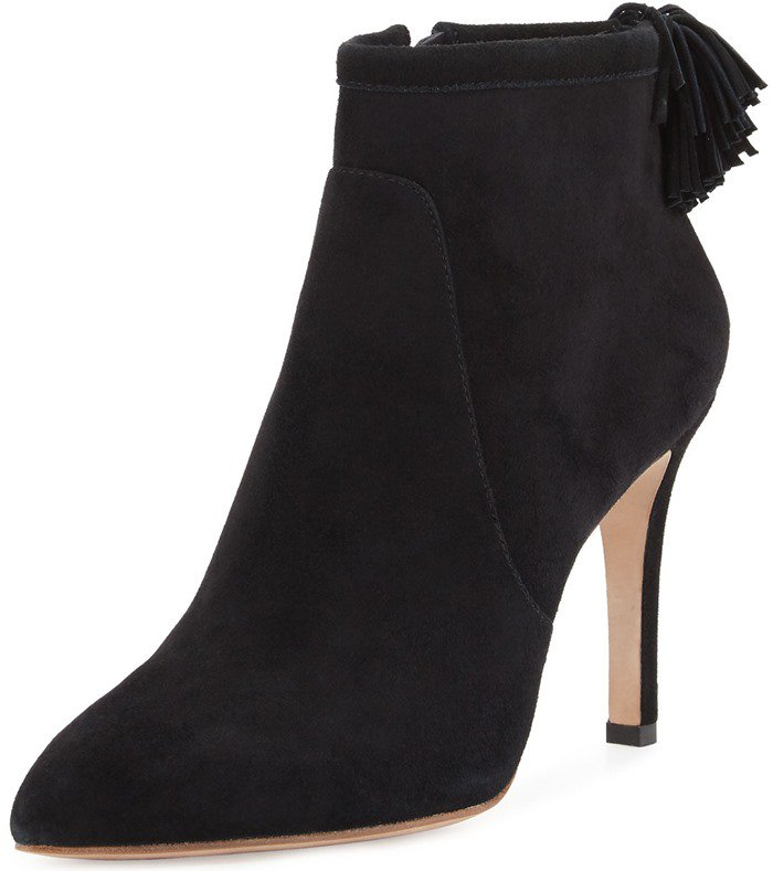 Loeffler Randall 'Maryl' Suede Pompom Booties