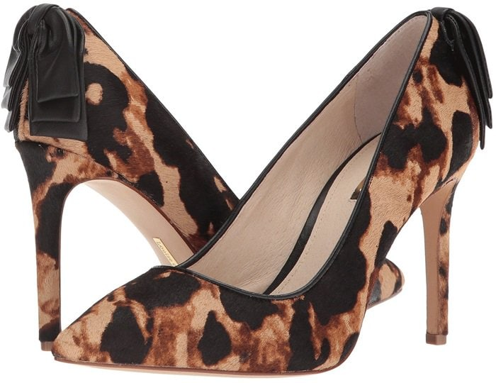 A pointed toe and slim stiletto underscore the chic style of a versatile pump
