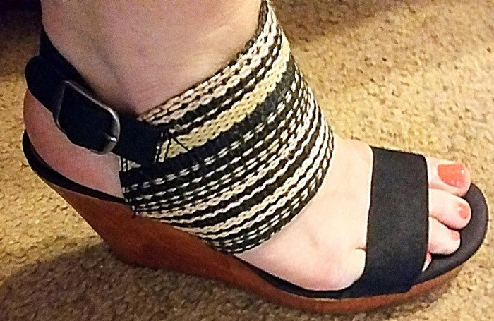 Lucky Brand 'Lapaloma' Woven Cuff Wedge Sandals