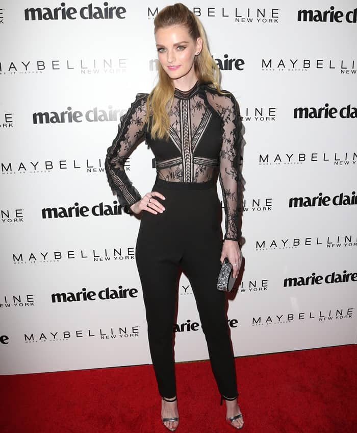 Lydia Hearst attends Marie Claire's 'Fresh Faces' celebration with an event sponsored by Maybelline at Doheny Room on April 21, 2017 in West Hollywood, California