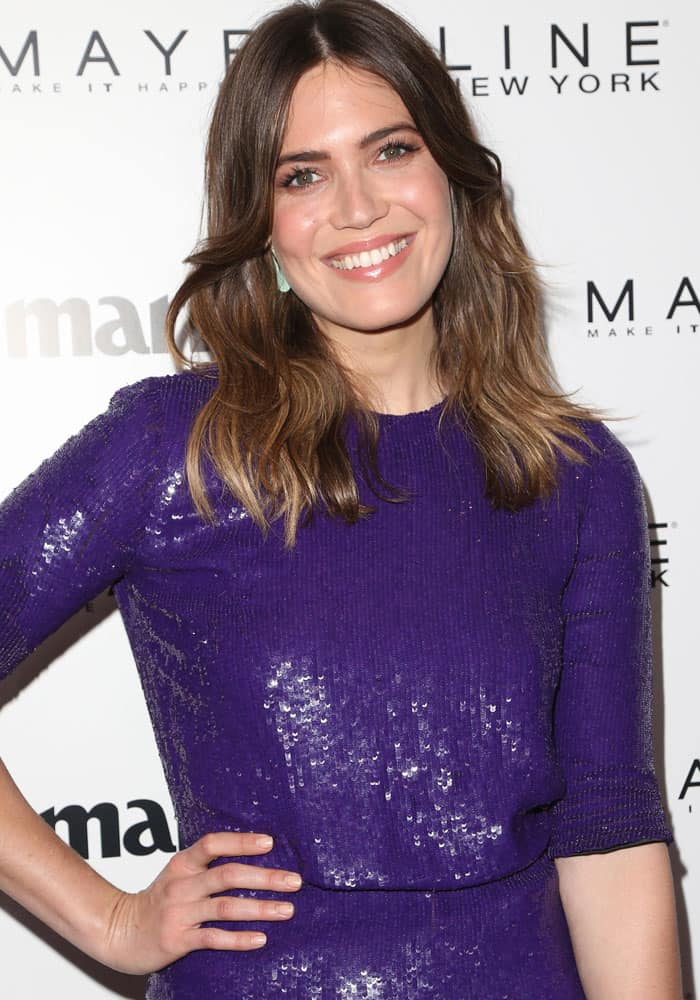 Mandy was all-smiles at the Marie Claire Fresh Faces event