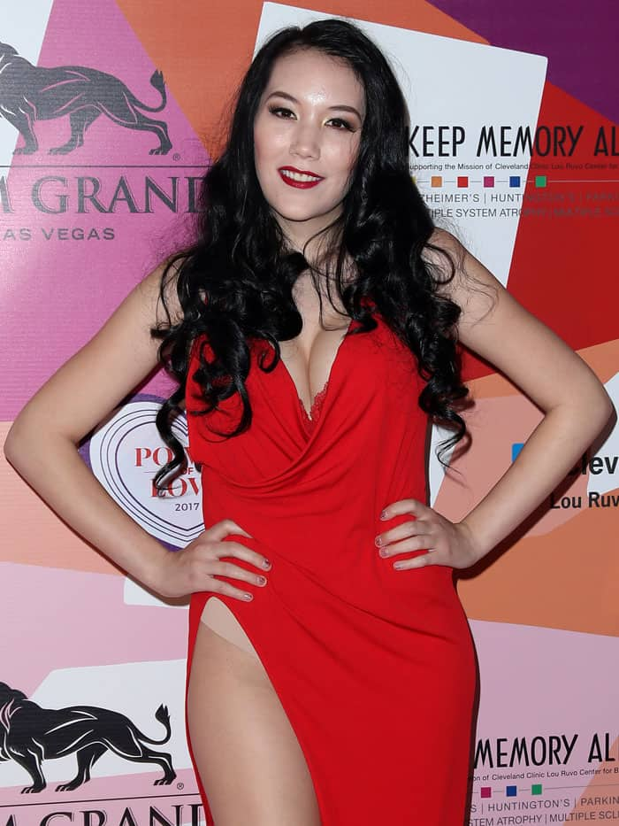 "Manika Ward at Keep Memory Alive's 21st Annual ""Power of Love Gala"" at the MGM Grand Garden Arena in Las Vegas, Nevada, on April 27, 2017."
