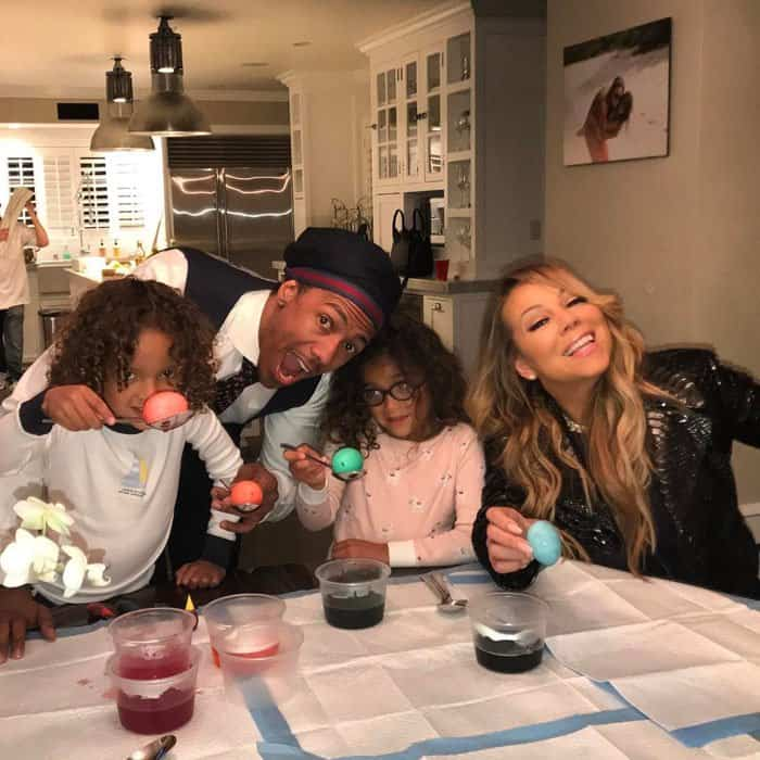 The pop diva shared an adorable Easter photo with her entire family