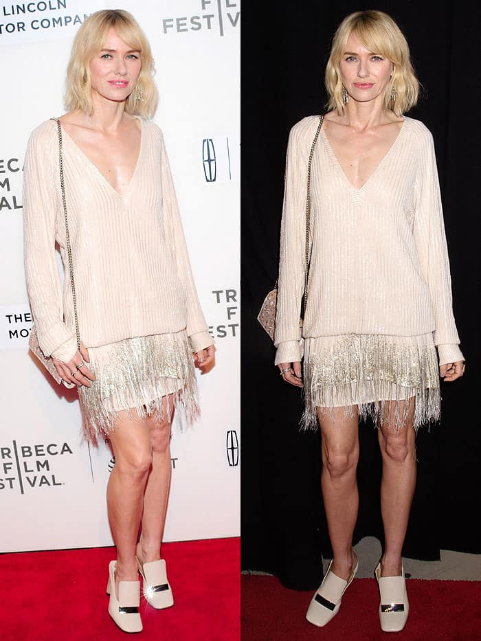 "Naomi Watts attending the screening of ""Chuck"" during the 2017 Tribeca Film Festival at BMCC Tribeca PAC in New York City on April 28, 2017."