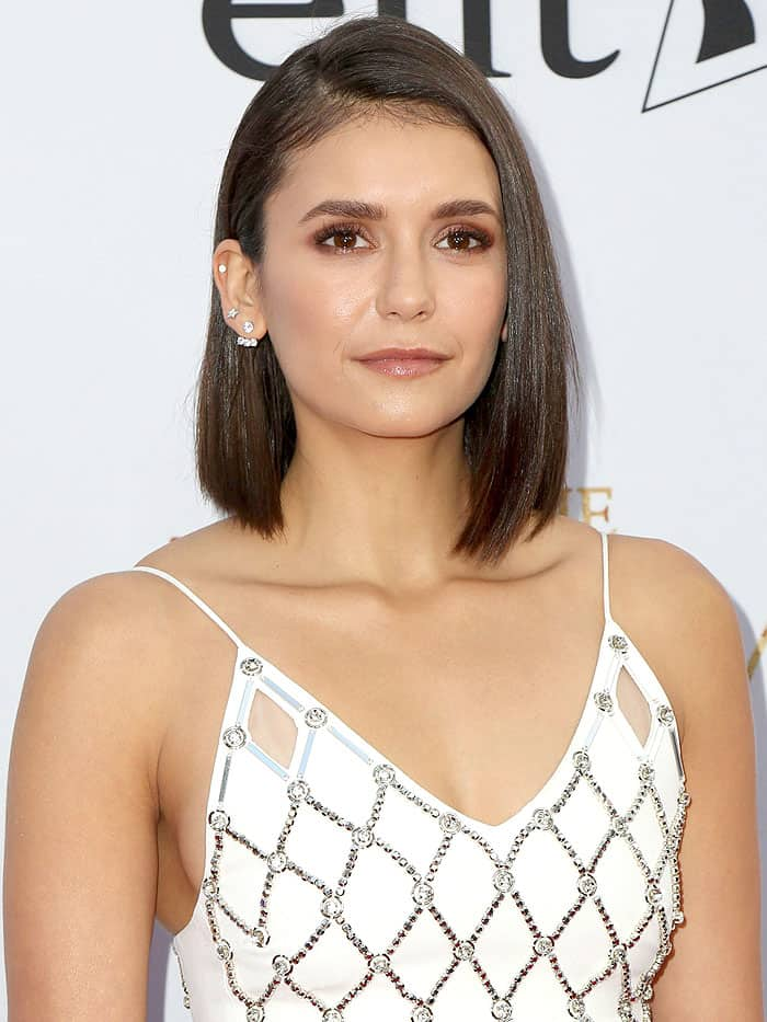 "Nina Dobrev at the premiere of Open Road Films' ""The Promise"" at TCL Chinese Theatre in Hollywood, California, on April 12, 2017."