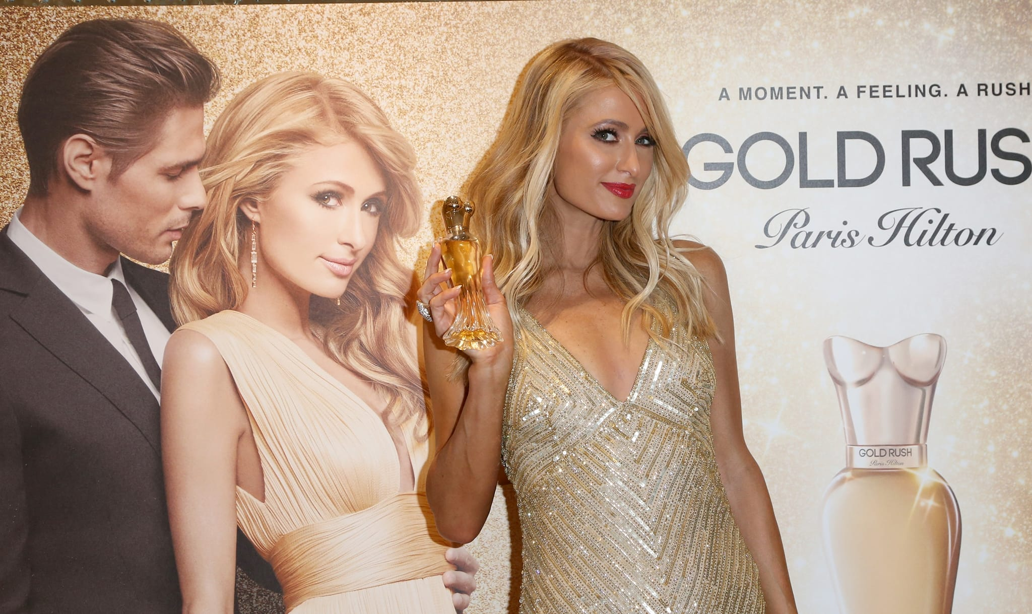 Paris Hilton celebrates the launch of her 20th fragrance Gold Rush
