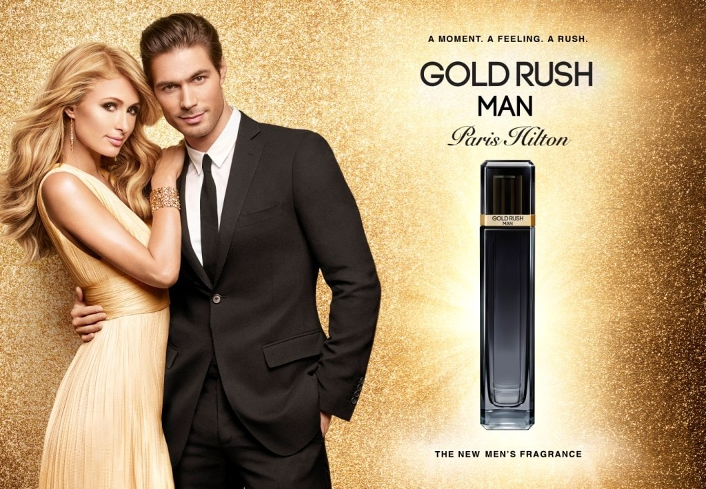 In February 2017, Paris Hilton launched a new perfume called Gold Rush Man, the 21st fragrance to be released from her illustrious fragrance empire