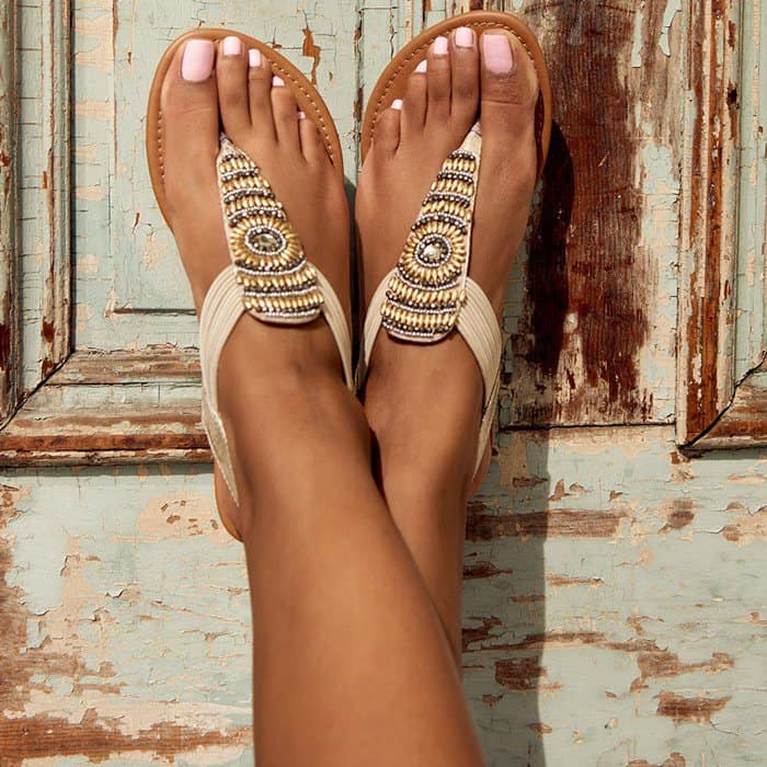Pleated 'Plami' Sandals