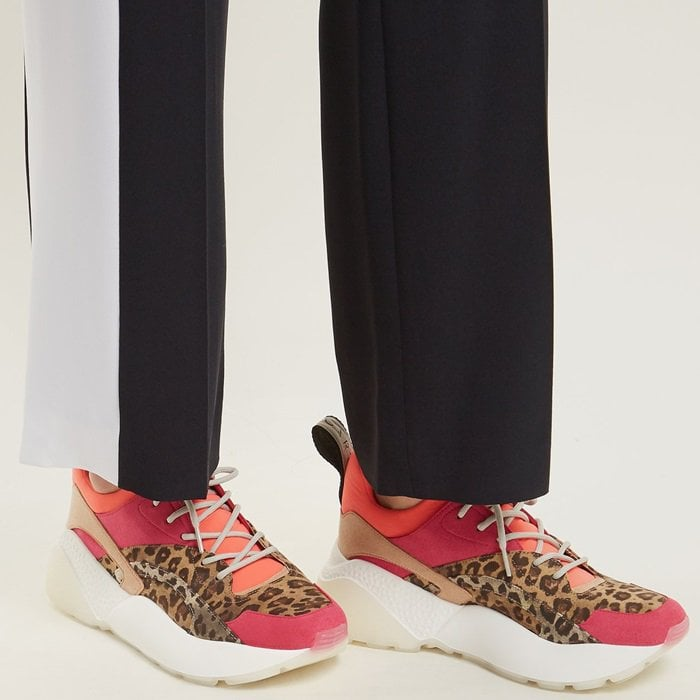Stella McCartney Eclypse Leopard-Print Low-Top Trainers