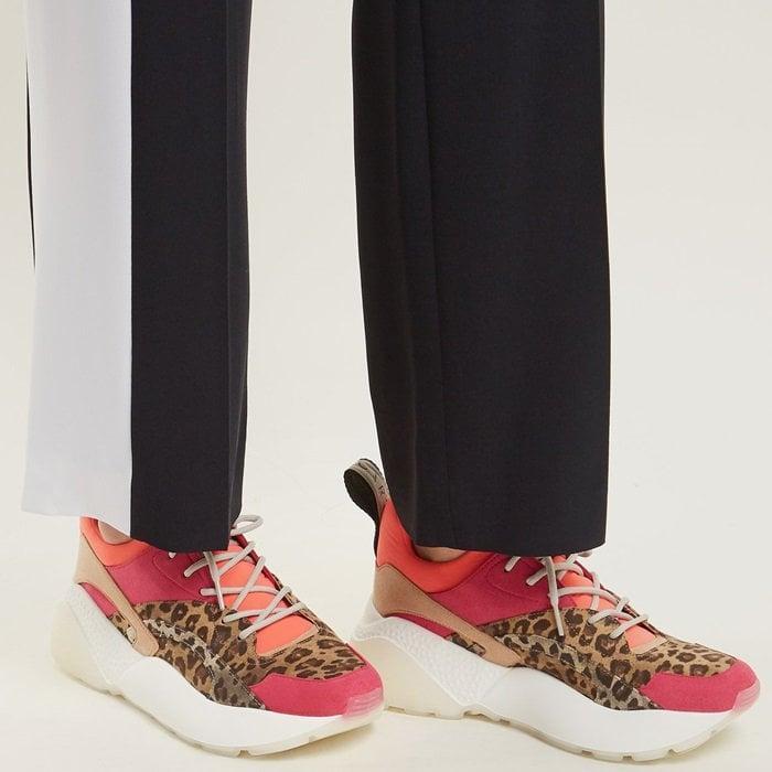 Stella McCartney Eclypse Leopard-Print Low-Top Trainers