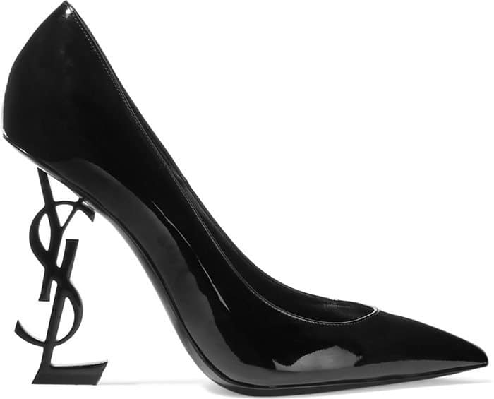 Saint Laurent Opium logo-heel pumps