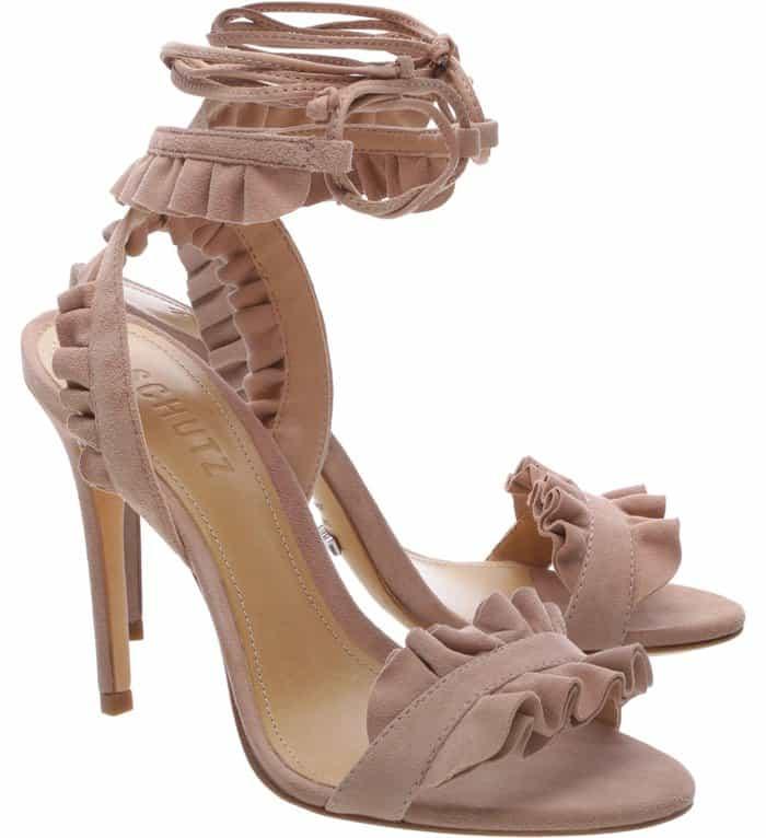Schutz Irem ruffled sandals