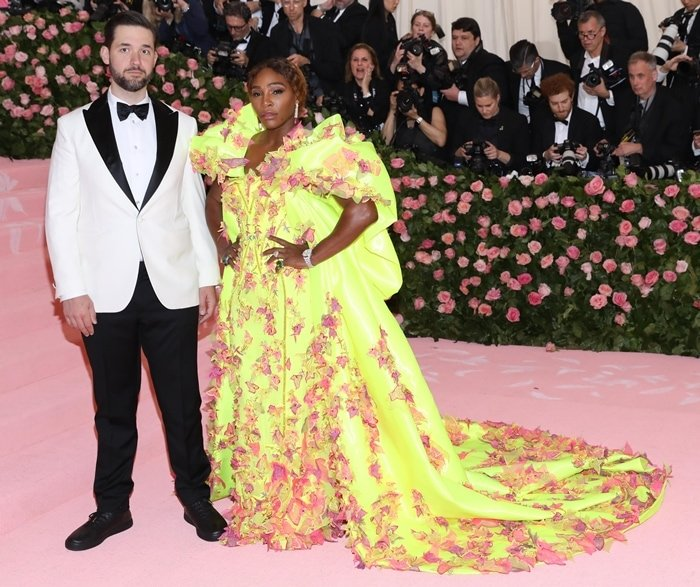 Internet entrepreneur Alexis Ohanian and investor and professional tennis player Serena Williams arrive at the 2019 Met Gala Celebrating Camp: Notes on Fashion